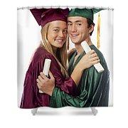 Graduation Couple Shower Curtain