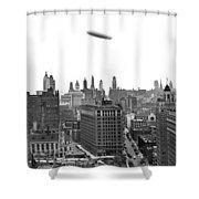 Graf Zeppelin Over Chicago Shower Curtain