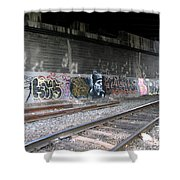 Graffiti - Under Over Railyard Shower Curtain
