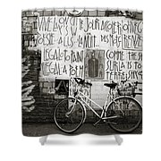 Graffiti And Bicycle Shower Curtain