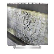 Graffiti Bench Shower Curtain