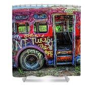Graffiti Bus Shower Curtain