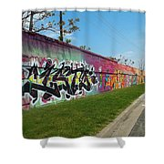 Graffiti Lane Shower Curtain