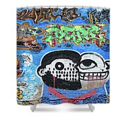 Graffiti Provence France Shower Curtain