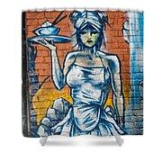 Grafitti Wall Shower Curtain