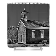 Grafton Schoolhouse - Bw Shower Curtain