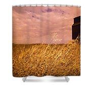 Grain Elevator And Crop Shower Curtain