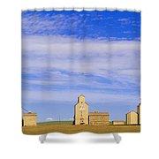 Grain Elevators, Mossleigh, Alberta Shower Curtain