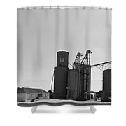 Grain Processing Facility In Shirley Illinois 2 Shower Curtain