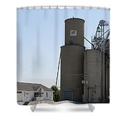 Grain Processing Facility In Shirley Illinois 3 Shower Curtain
