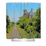 Grain Processing Facility In Shirley Illinois 4 Shower Curtain