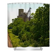 Grain Processing Facility In Shirley Illinois 5 Shower Curtain