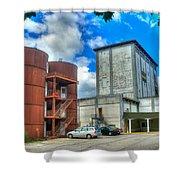 Grain Tower Apartments Shower Curtain