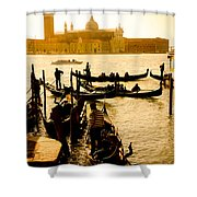 Grand Canal At Sunset - Venice Shower Curtain