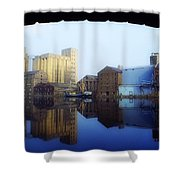 Grand Canal, Dublin, Co Dublin, Ireland Shower Curtain