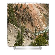 Grand Canyon And Yellowstone River Shower Curtain