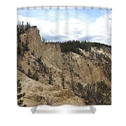 Grand Canyon Cliff In Yellowstone Shower Curtain
