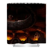 Grand Canyon Desert View Watchtower - Greeting Card Shower Curtain