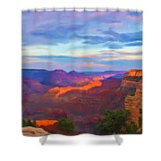 Grand Canyon Grand Sky Shower Curtain