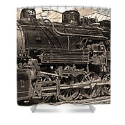 Grand Canyon Railroad Locomotive Shower Curtain