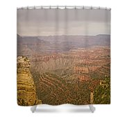 Grand Canyon Scenic Overlook View Shower Curtain
