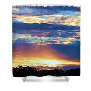 Grand Canyon Sky Over Treetops Shower Curtain
