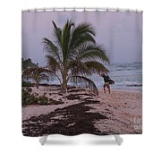 Grand Cayman Surfer Shower Curtain