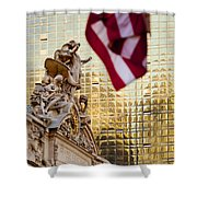 Grand Central Flag Shower Curtain