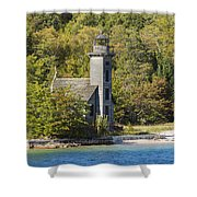 Grand Island E Channel Lighthouse 1 Shower Curtain