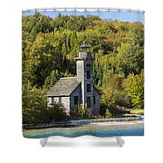 Grand Island E Channel Lighthouse 2 Shower Curtain
