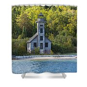 Grand Island E Channel Lighthouse 3 Shower Curtain