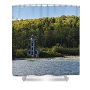 Grand Island E Channel Lighthouse 4 Shower Curtain
