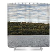 Grand Island E Channel Lighthouse 5 Shower Curtain