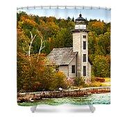 Grand Island Lighthouse No.1442 Shower Curtain