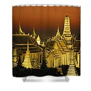 Grand Palace And Temple Of The Emerald Shower Curtain