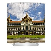 Grand Palace Chakri Mahaprasad Hall Front View Bangkok Shower Curtain