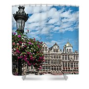 Grand Place Flowers Shower Curtain