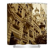 Grand Place Perspective Shower Curtain
