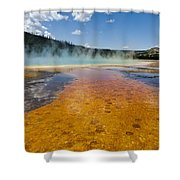 Grand Prismatic Spring IIi Shower Curtain