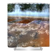 Grand Prismatic Spring Iv Shower Curtain