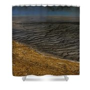 Grand Prismatic Spring Runoff Shower Curtain
