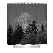 Grand Teton Bw Shower Curtain