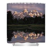 Grand Teton Range And Cloudy Sky Shower Curtain