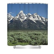 Grand Teton Spring Shower Curtain
