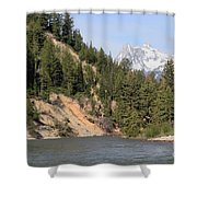 Grand Tetons From Snake River Shower Curtain