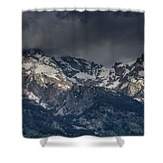 Grand Tetons Immersed In Clouds Shower Curtain