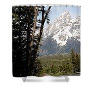 Grand Tetons Vertical Shower Curtain