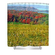 Grand Traverse Winery In Autumn Shower Curtain