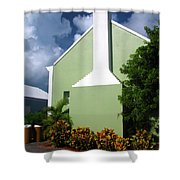 Grand Turk Store Building Shower Curtain