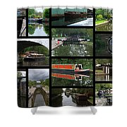 Grand Union Canal Collage Shower Curtain